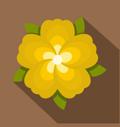 Yellow flower icon flat style vector