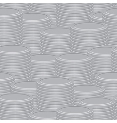 A stack of silver coins vector