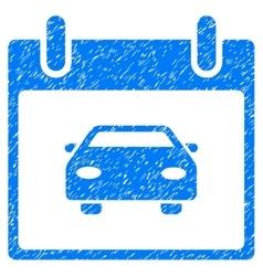 Car calendar day grainy texture icon vector