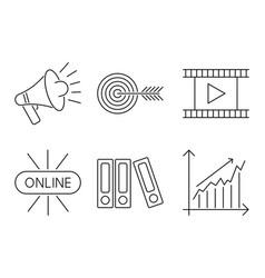 Business webinar and online vector