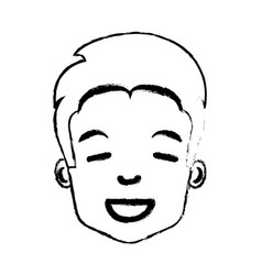 Young man avatar character vector