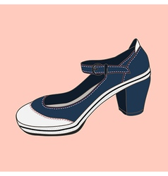 Fashion shoes jeans vector