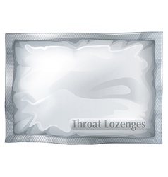 A pack of throat lozenges vector