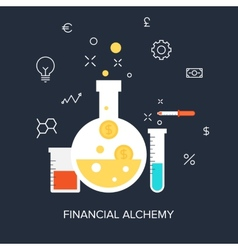 Financial alchemy vector