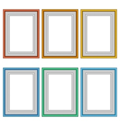 Six frames isolated on white vector
