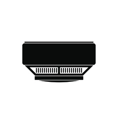 Smoke detector black simple icon vector