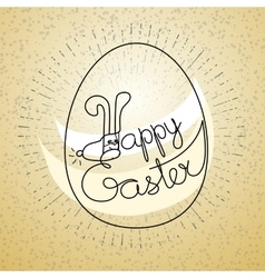 Silhouette eggs and words happy easter vector