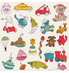 Baby Toys Doodles vector image vector image