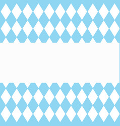Background for october fest with blue diamonds vector