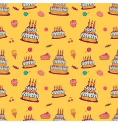 Birthday background on yellow vector