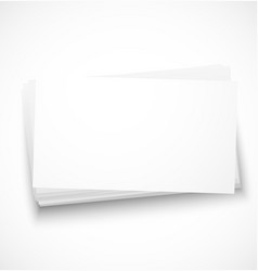 Business cards with shadow template vector