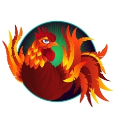 Colorful cartoon rooster symbol of 2017 year by vector image