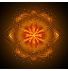 Dark orange abstract design vector image vector image