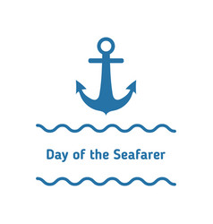 day of the seafarer vector image vector image