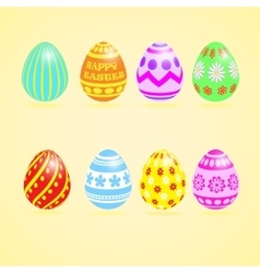 Easter Eggs Colourful Set vector image vector image