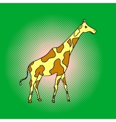 Giraffe pop art vector