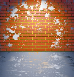 Grungy brick wall vector