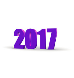 happy new year 2017 celebration 3d text red 2017 vector image vector image