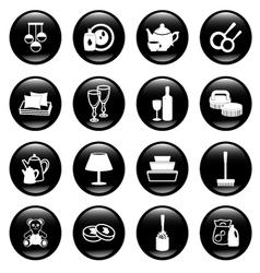 home work and equipment icons vector image vector image