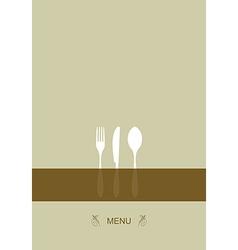 Menu design for restaurant vector