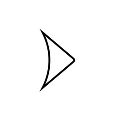 next modern icon vector image