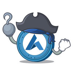 Pirate ardor coin character cartoon vector