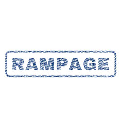 rampage textile stamp vector image vector image