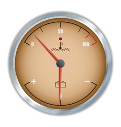 Retro motor temperature and voltage gauge icon vector image