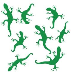 Silhouettes of salamander vector