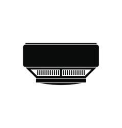Smoke detector black simple icon vector