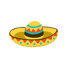 Sombrero hat icon vector