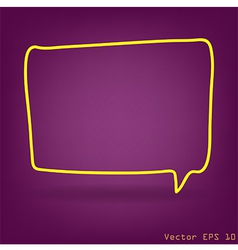 speech bubble with drawing concept idea vector image