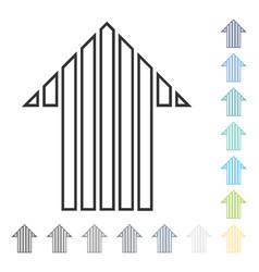 Stripe arrow up icon vector