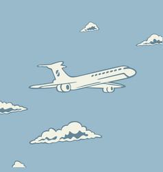 Symbol passenger airplane vector