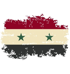 Syria grunge flag vector
