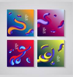 trendy abstract covers futuristic design posters vector image