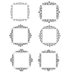 vintage baroque frame vector image vector image