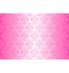 wallpaper vintage pattern pink wide vector image