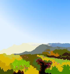 Wilderness landscape vector
