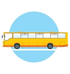 yellow city bus vector image vector image