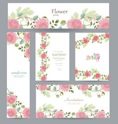 graceful collection of greeting cards with vector image