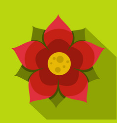 Amaranth flower icon flat style vector