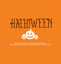 Halloween style background collection design vector