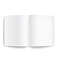 Blank opened copybook on white background vector