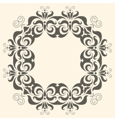 frame from floral pattern vector image