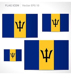 Barbados flag template vector