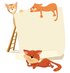 Cats around frame vector