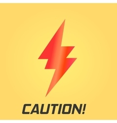 Lightning symbol with text single on yellow vector