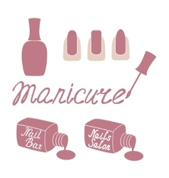 Manicure salon label vector