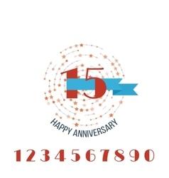 Anniversary happy holiday celebration emblems set vector
